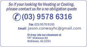 So if your looking for Heating or Cooling please contact us for a no obligation quote